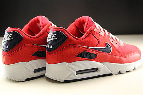 Nike Air Max 90 Essential University Red White Blackened Blue Back view