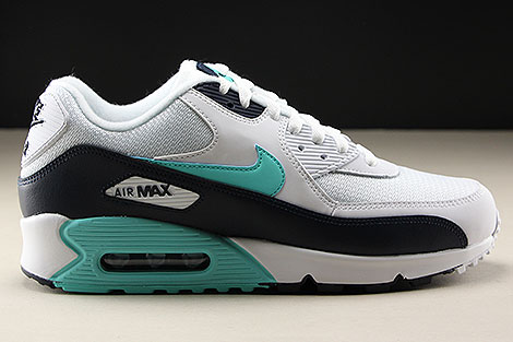 Nike Air Max 90 Essential White Aurora Green Obsidian
