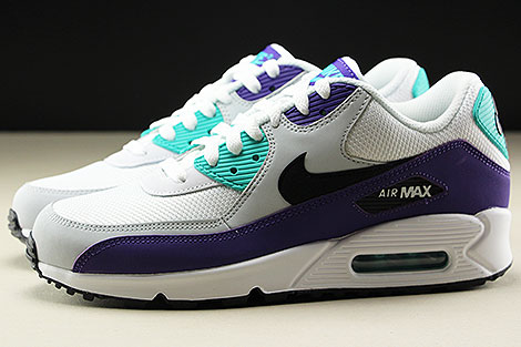 Nike Air Max 90 Essential White Black Hyper Jade Seitenansicht