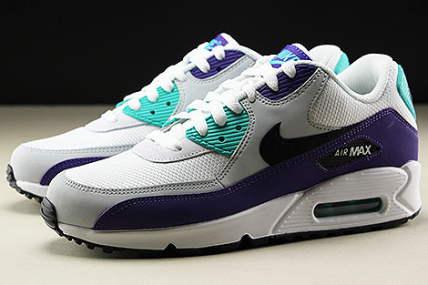 Nike Air Max 90 Essential White Black Hyper Jade Seitendetail