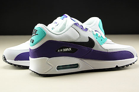 Nike Air Max 90 Essential White Black Hyper Jade Innenseite