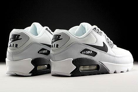 Nike Air Max 90 Essential White Black Pure Platinum Back view
