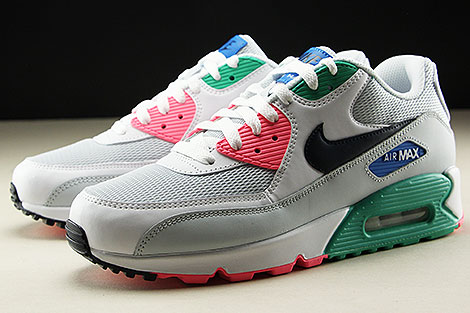 Nike Air Max 90 Essential White Obsidian Pure Platinum Blue Nebula Seitendetail
