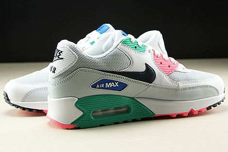 100% authentic 22204 4e627 ... Nike Air Max 90 Essential White Obsidian Pure Platinum Blue Nebula  Innenseite ...