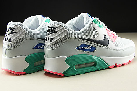 Nike Air Max 90 Essential White Obsidian Pure Platinum Blue Nebula Back view