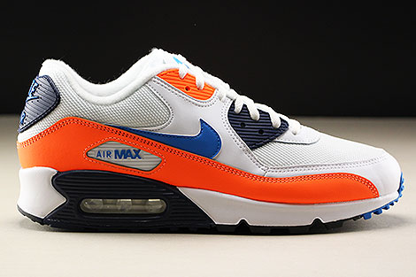 Nike Air Max 90 Essential White Photo Blue Total Orange