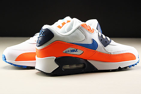 Nike Air Max 90 Essential White Photo Blue Total Orange Innenseite
