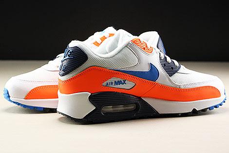 Nike Air Max 90 Essential White Photo Blue Total Orange Inside