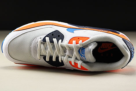 Nike Air Max 90 Essential White Photo Blue Total Orange Oberschuh