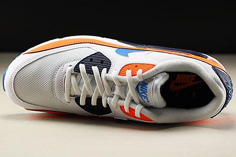 Nike Air Max 90 Essential White Photo Blue Total Orange Over view
