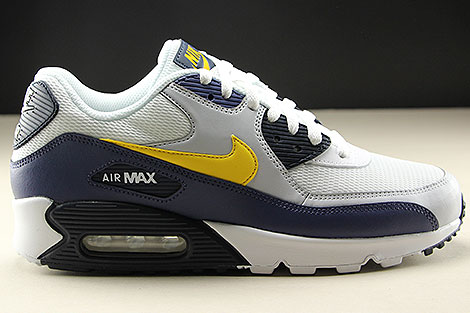 Nike Air Max 90 Essential White Tour Yellow Blue Recall