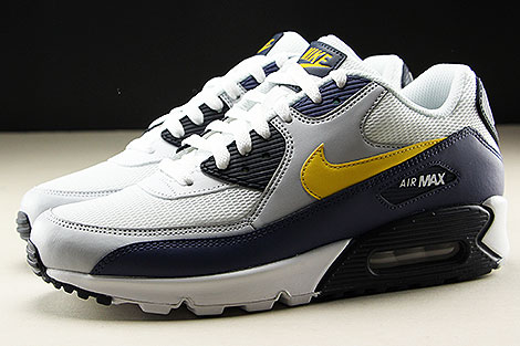 Nike Air Max 90 Essential White Tour Yellow Blue Recall Seitenansicht