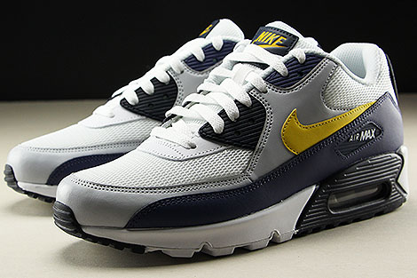 Nike Air Max 90 Essential White Tour Yellow Blue Recall Sidedetails