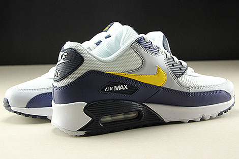 Nike Air Max 90 Essential White Tour Yellow Blue Recall Inside