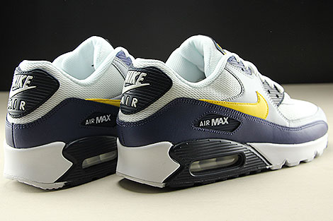 Nike Air Max 90 Essential White Tour Yellow Blue Recall Rueckansicht