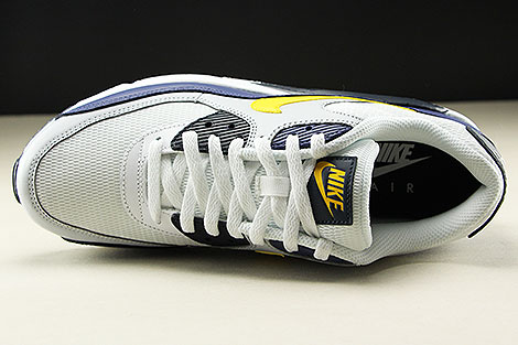 Nike Air Max 90 Essential White Tour Yellow Blue Recall Oberschuh