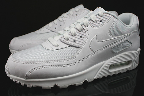 Nike Air Max 90 Essential White White White White Sidedetails