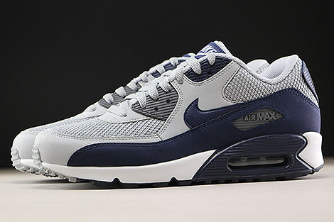 Nike Air Max 90 Essential Wolf Grey Binary Blue Profile