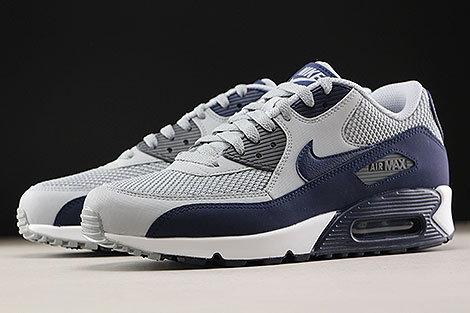 Nike Air Max 90 Essential Wolf Grey Binary Blue Sidedetails