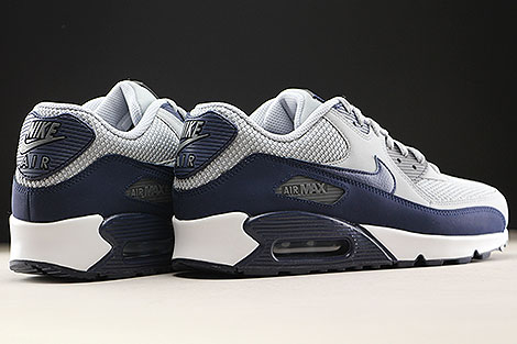 Nike Air Max 90 Essential Wolf Grey Binary Blue Back view
