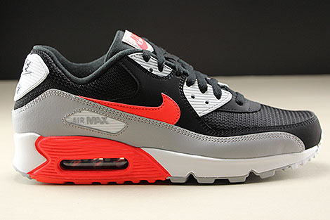 Nike Air Max 90 Essential Wolf Grey Bright Crimson Black White Right