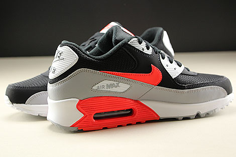 Nike Air Max 90 Essential Wolf Grey Bright Crimson Black White Inside