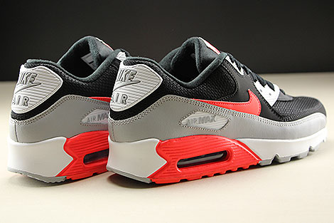 Nike Air Max 90 Essential Wolf Grey Bright Crimson Black White Back view