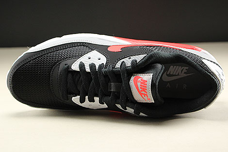 Nike Air Max 90 Essential Wolf Grey Bright Crimson Black White Over view