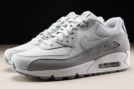 Nike Air Max 90 Essential Grau Hellgrau Weiss Seitenansicht