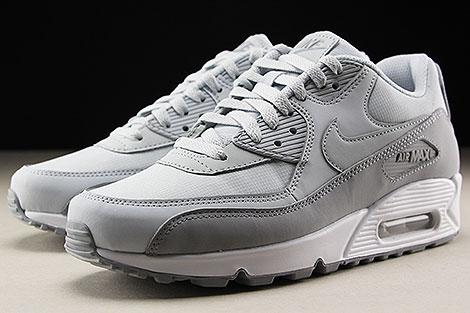Nike Air Max 90 Essential Grau Hellgrau Weiss Seitendetail