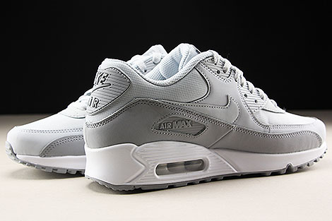 Nike Air Max 90 Essential Wolf Grey Pure Platinum White Inside