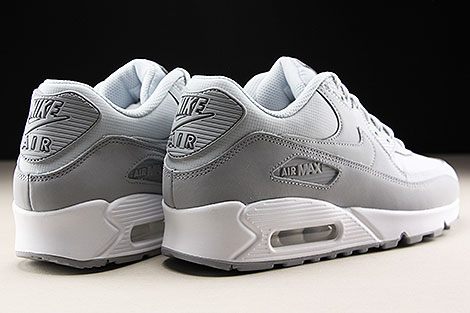 Nike Air Max 90 Essential Wolf Grey Pure Platinum White Back view