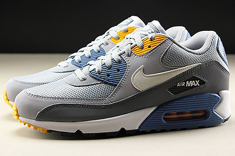 ... Nike Air Max 90 Essential Wolf Grey White Indigo Storm Profile ... a3adc47e1771f