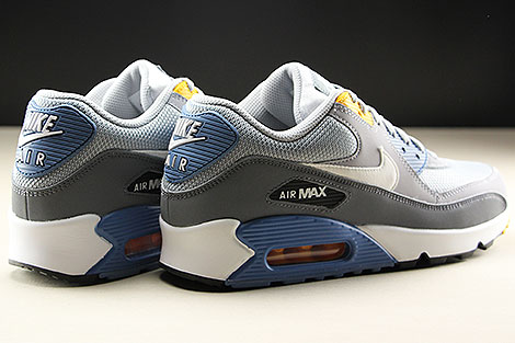 Nike Air Max 90 Essential Wolf Grey White Indigo Storm Back view