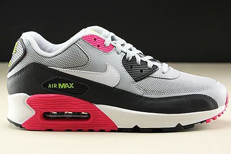 Nike Air Max 90 Essential Wolf Grey White Rush Pink Volt