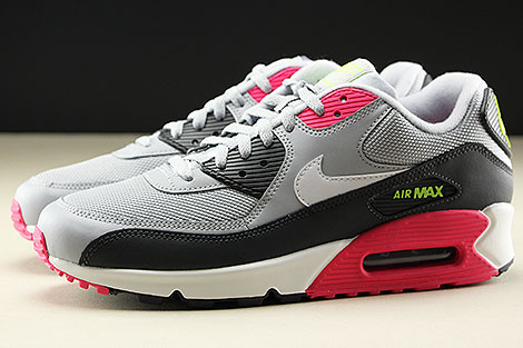 Nike Air Max 90 Essential Wolf Grey White Rush Pink Volt Seitenansicht