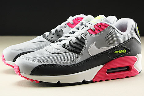 Nike Air Max 90 Essential Wolf Grey White Rush Pink Volt Seitendetail