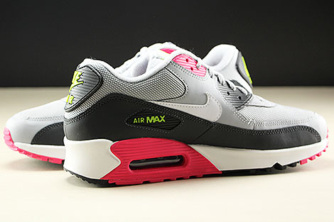Nike Air Max 90 Essential Wolf Grey White Rush Pink Volt Innenseite