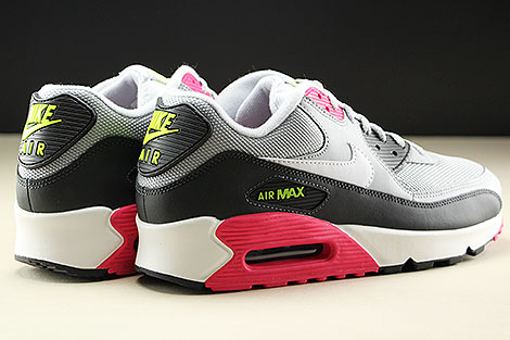 Nike Air Max 90 Essential Wolf Grey White Rush Pink Volt Rueckansicht