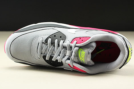 Nike Air Max 90 Essential Wolf Grey White Rush Pink Volt Oberschuh