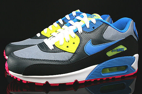 Nike Air Max 90 GS Magnet Grey Photo Blue Dark Magnet Grey Profile