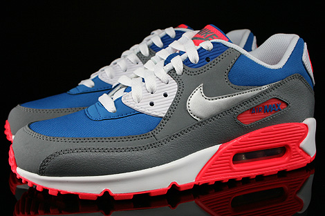 Nike Air Max 90 GS Military Blue Metallic Silver White Laser Profile