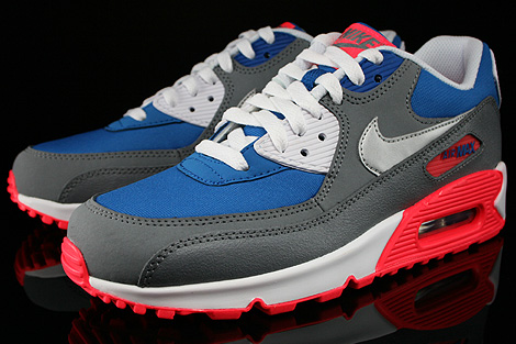 Nike Air Max 90 GS Military Blue Metallic Silver White Laser Sidedetails