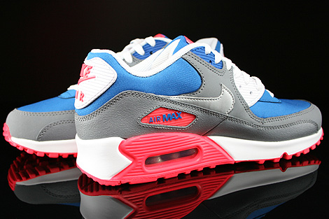 Nike Air Max 90 GS Military Blue Metallic Silver White Laser Inside