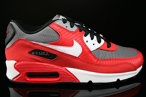 nike air max 90 (gs) university red/ white metallic grey