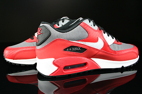 Nike Air Max 90 GS University Red White Metallic Cool Grey Black Inside