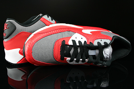 Nike Air Max 90 GS University Red White Metallic Cool Grey Black Over view