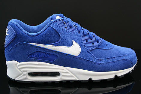 Nike Air Max 90 Essential Blau Beige Dunkelgrau