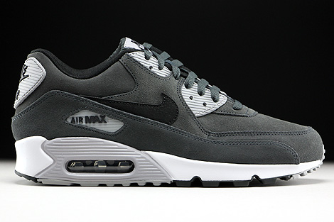 Nike Air Max 90 Leather Anthracite Black Wolf Grey White Right
