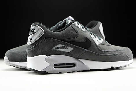 Nike Air Max 90 Leather Anthracite Black Wolf Grey White Inside